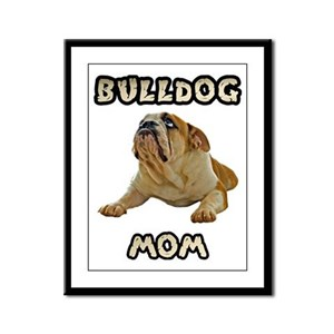 Bulldog Mom Framed Panel Print