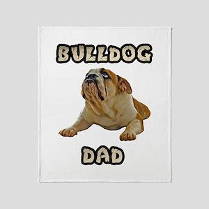 Bulldog Dad Throw Blanket