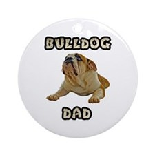 Bulldog Dad Ornament (Round)