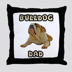 Bulldog Dad Throw Pillow