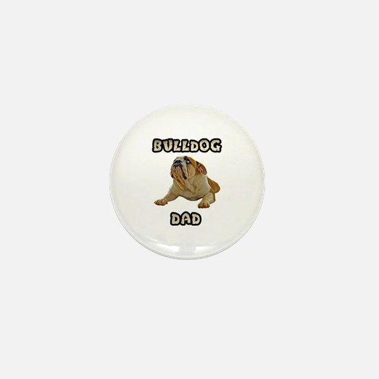 Bulldog Dad Mini Button