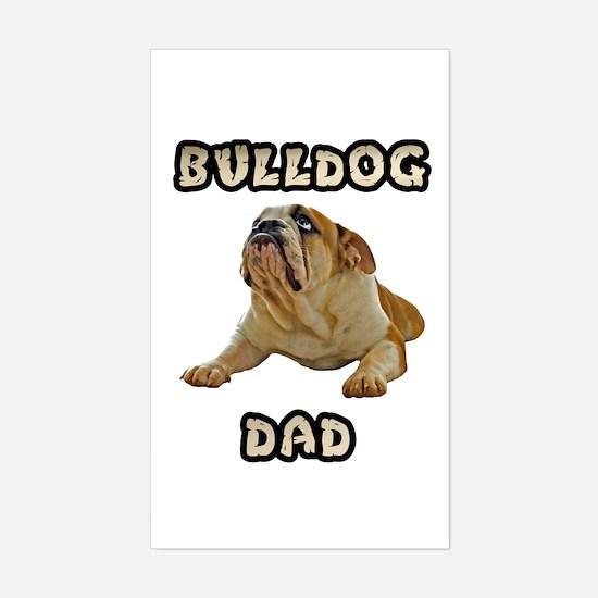 Bulldog Dad Sticker (Rectangle)