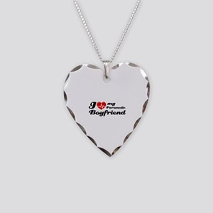I love my Paramedic Boyfriend Necklace Heart Charm