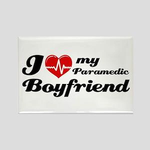 I love my Paramedic Boyfriend Rectangle Magnet