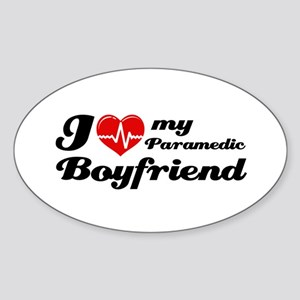 I love my Paramedic Boyfriend Sticker (Oval)