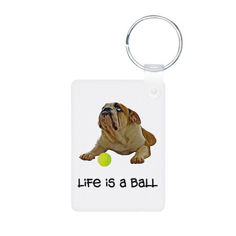 Bulldog Life Aluminum Photo Keychain