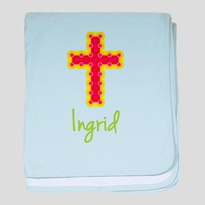 Ingrid Bubble Cross baby blanket