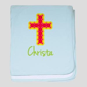 Christa Bubble Cross baby blanket