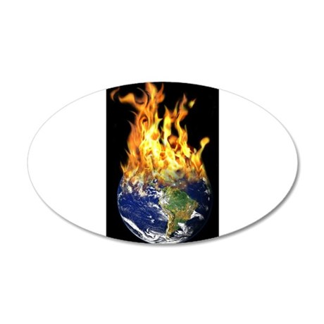 Burning world 38.5 x 24.5 Oval Wall Peel