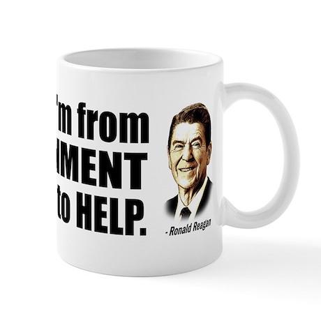 Reagan Quote - Nine most terrifying words Mug