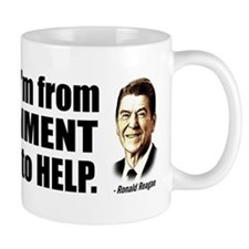 Reagan Quote - Nine most terrifying words Mug