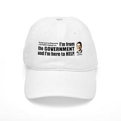 Reagan Quote - Nine most terrifying words Baseball Cap