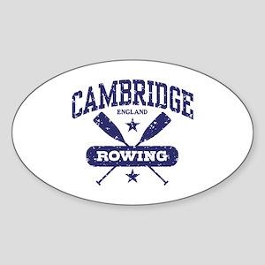 Cambridge England Rowing Sticker (Oval)