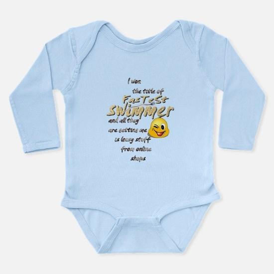Fastest Swimmer Long Sleeve Infant Bodysuit