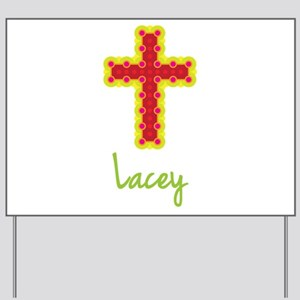 Lacey Bubble Cross Yard Sign