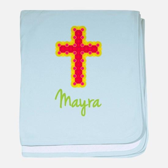 Mayra Bubble Cross baby blanket