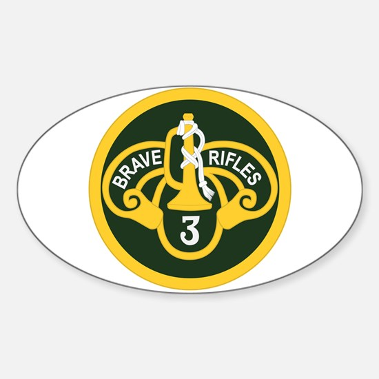 3rd Armored Cavalry Sticker (Oval)