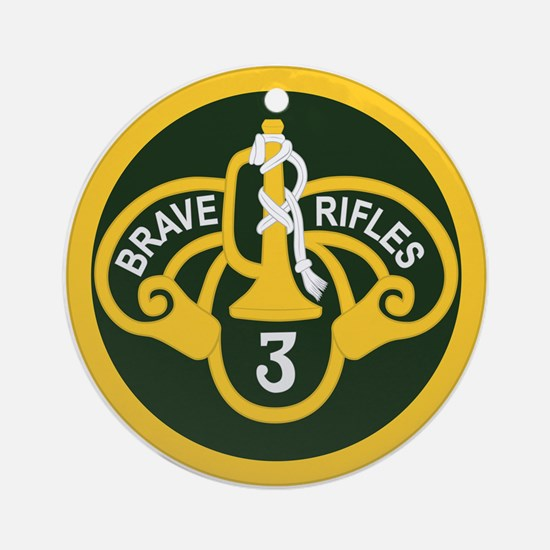 3rd Armored Cavalry Ornament (Round)
