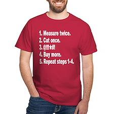 Measure twice, Cut once... Dark T-Shirt