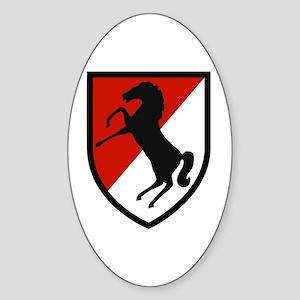 11th Armored Cavalry Sticker (Oval)