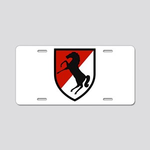11th Armored Cavalry Aluminum License Plate