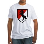 11th Armored Cavalry Fitted T-Shirt