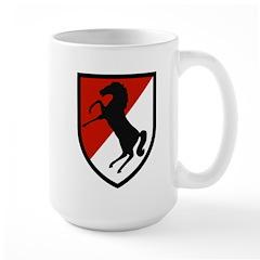 11th Armored Cavalry Large Mug