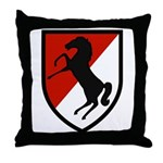 11th Armored Cavalry Throw Pillow