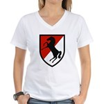 11th Armored Cavalry Women's V-Neck T-Shirt