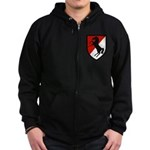 11th Armored Cavalry Zip Hoodie (dark)