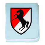 11th Armored Cavalry baby blanket