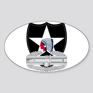 2nd Infantry CAB Sticker (Oval)