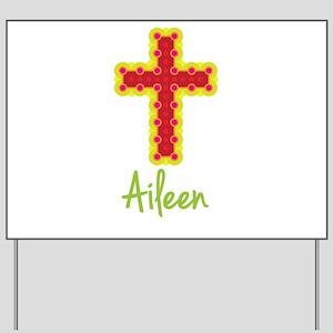 Aileen Bubble Cross Yard Sign