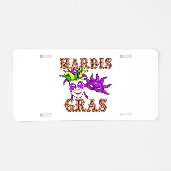 Mardis Gras Aluminum License Plate