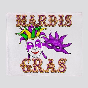 Mardis Gras Throw Blanket