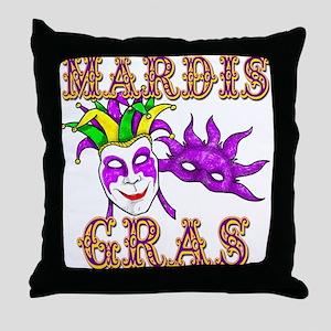 Mardis Gras Throw Pillow