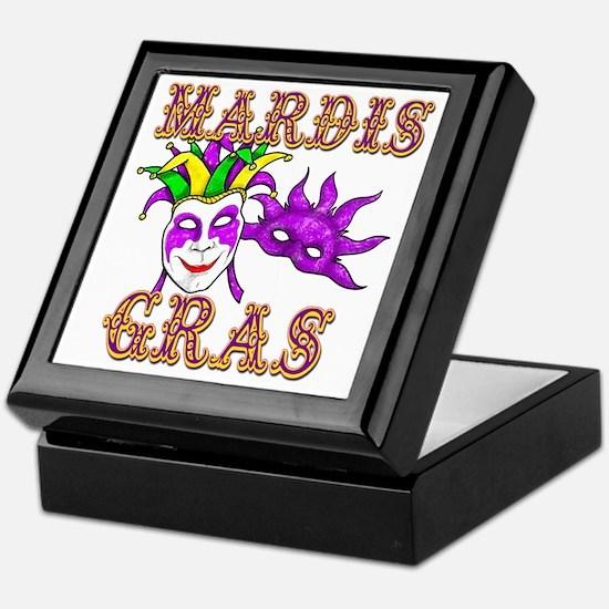 Mardis Gras Keepsake Box