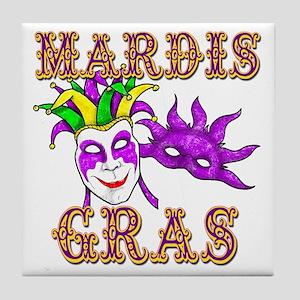 Mardis Gras Tile Coaster