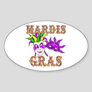 Mardis Gras Sticker (Oval)