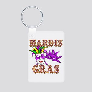Mardis Gras Aluminum Photo Keychain
