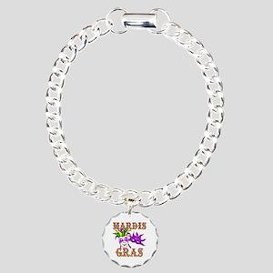 Mardis Gras Charm Bracelet, One Charm