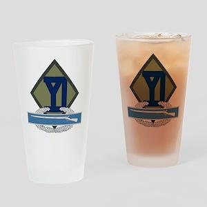 26th Infantry CIB Drinking Glass