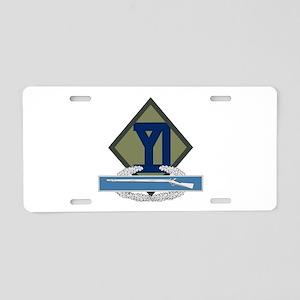 26th Infantry CIB Aluminum License Plate