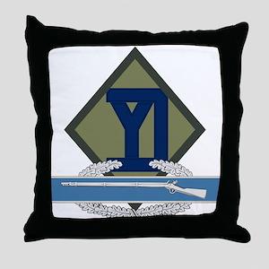 26th Infantry CIB Throw Pillow