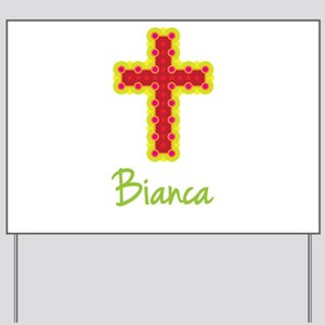 Bianca Bubble Cross Yard Sign