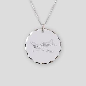 Vought F4U Corsair Necklace Circle Charm
