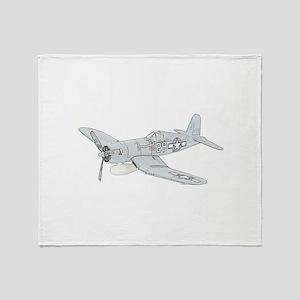 Vought F4U Corsair Throw Blanket