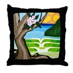 Green Dream Throw Pillow