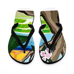 Green Dream Flip Flops