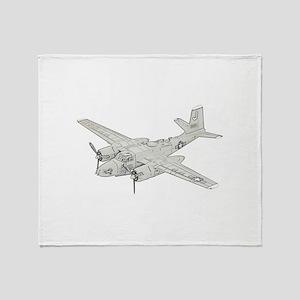 Douglas A-26 Invader Throw Blanket
